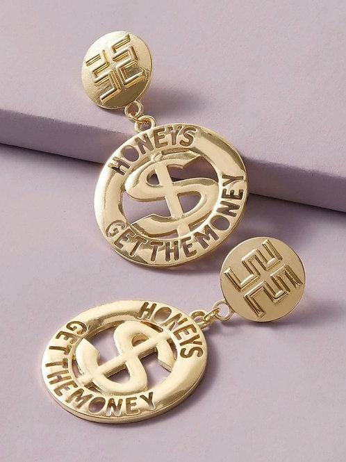 "XA ""HUNNY MONEY"" earrings"