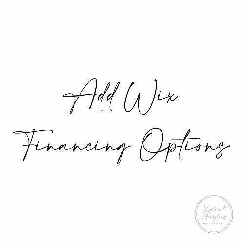 Add Wix Financing Opts.