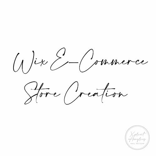 Wix E-Commerce Store Creation