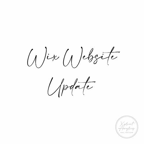 Wix Website Update