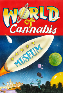 """World of Cannabis Museum"" Poster"
