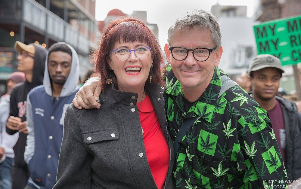 The Dagga Couple Myrtle Clarke & Jules Stobbs (photo by Nicky Newman)