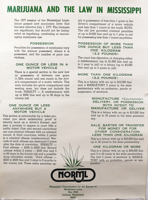 Mississippi NORML info poster