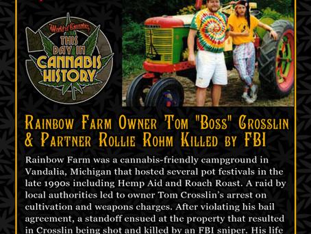 "Sept. 3-4, 2001 - Rainbow Farm Owner Tom ""Boss"" Crosslin & Partner Rollie Rohm Killed by FBI"
