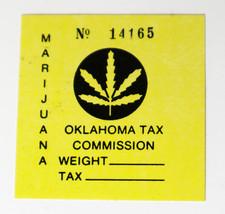 Oklahoma Marijuana Tax Stamp