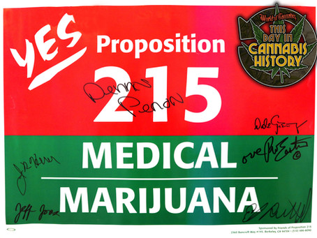 Nov. 5, 1996 - Proposition 215 is Passed