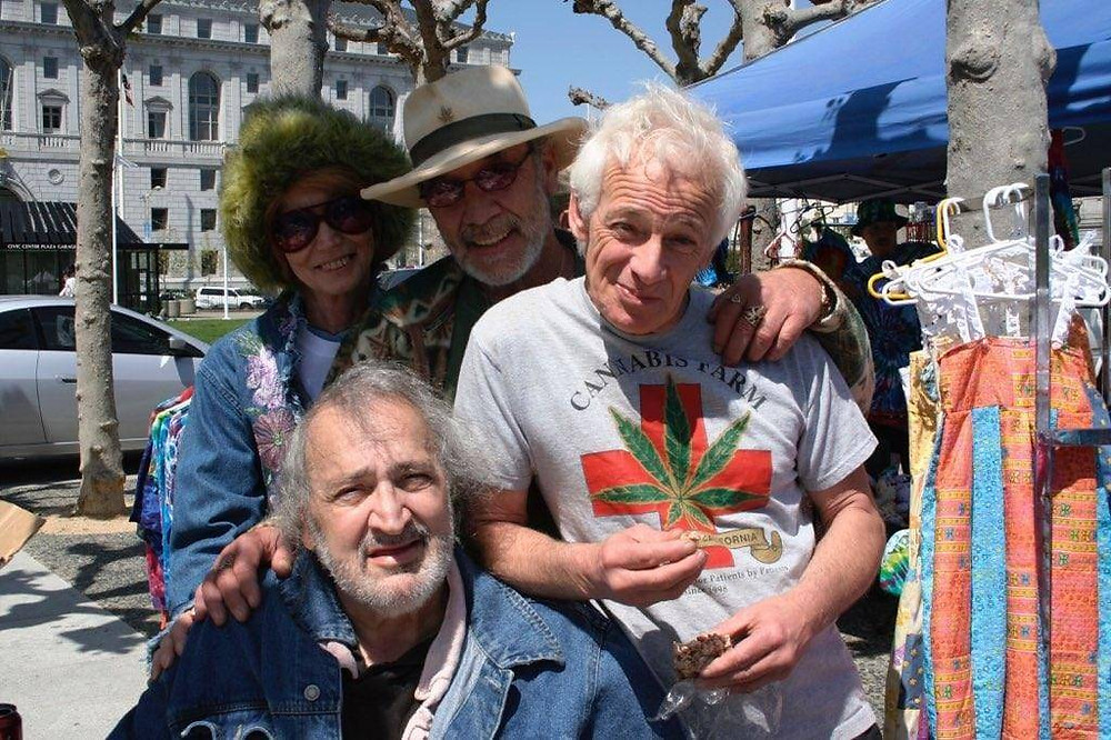 Eddy Lepp & wife Linda with friends Pennis Peron & Jack Herer.