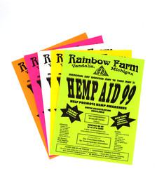"""""""Hemp Aid 99"""" Event Flyers"""