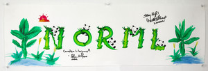 Signed NORML watercolor art