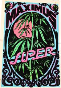 """Maximus Super"" Felt Blacklight Poster"