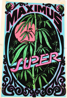 """Maximus Super"" Felt Blacklight Poster"