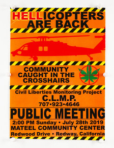 """Hellicopters Are Back"" Meeting Flyer"