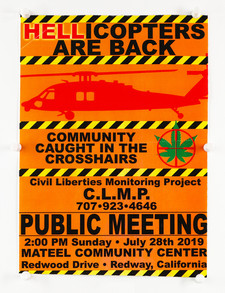 """""""Hellicopters Are Back"""" Meeting Flyer"""