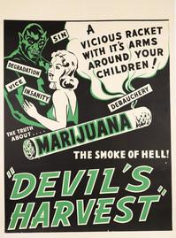"Original ""Devil's Harvest"" Movie Poster"