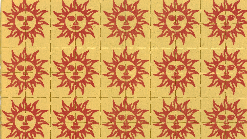 Vintage Orange Sunshine blotter art