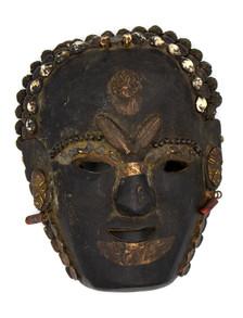 Primitive Mask with Cannabis Leaf Talisman