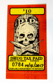 """RIP / Drug Tax Paid"" Stamp"