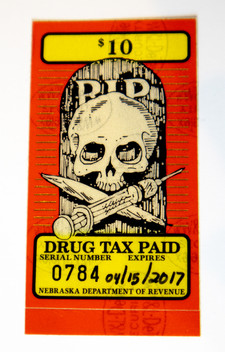 """RIP / Drug Tax Paid"" Stamp"