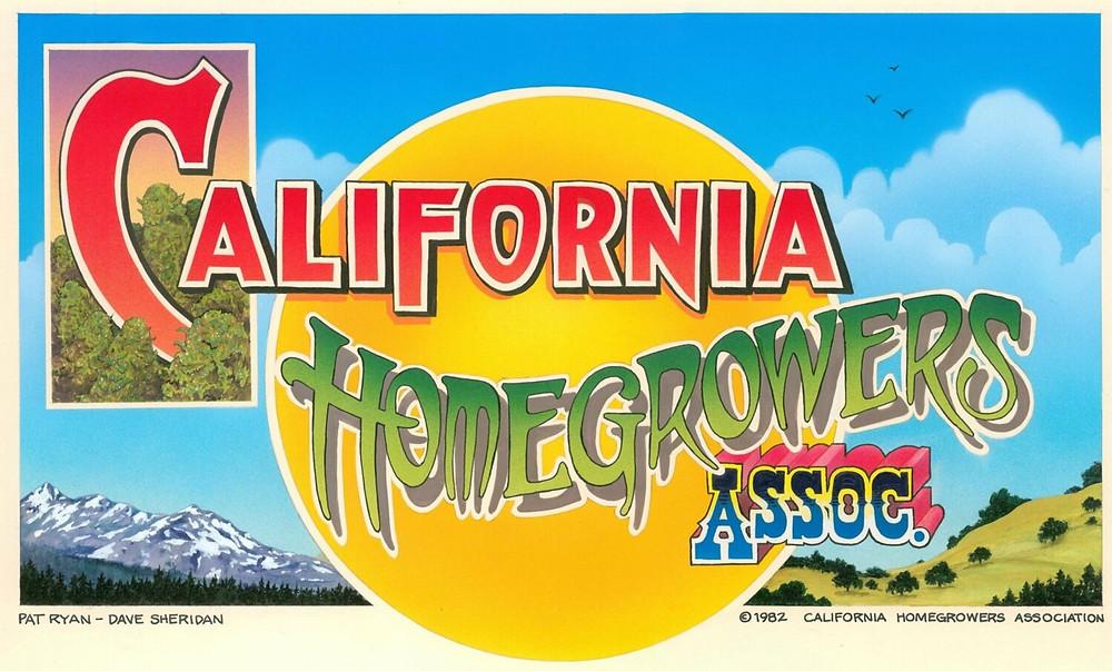 California Homegrowers Association art by Pat Ryan & Dave Sheridan