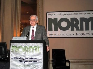 Dr. Grinspoon speaking at a NORML conference.