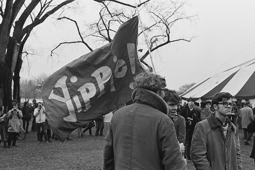 Yippies protest Nixon's inauguration - January 1969. [David Fenton/Getty]
