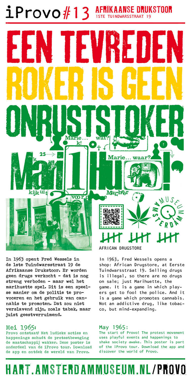 "Provo ""marihua"" poster, 1965"