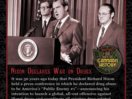 June 17, 1971 - President Nixon Declares War on Drugs