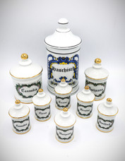 Set of Porcelain Apothecary Jars