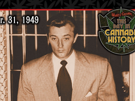 March 31, 1949 - Actor Robert Mitchum Released from Jail After Serving Sentence for Pot Possession