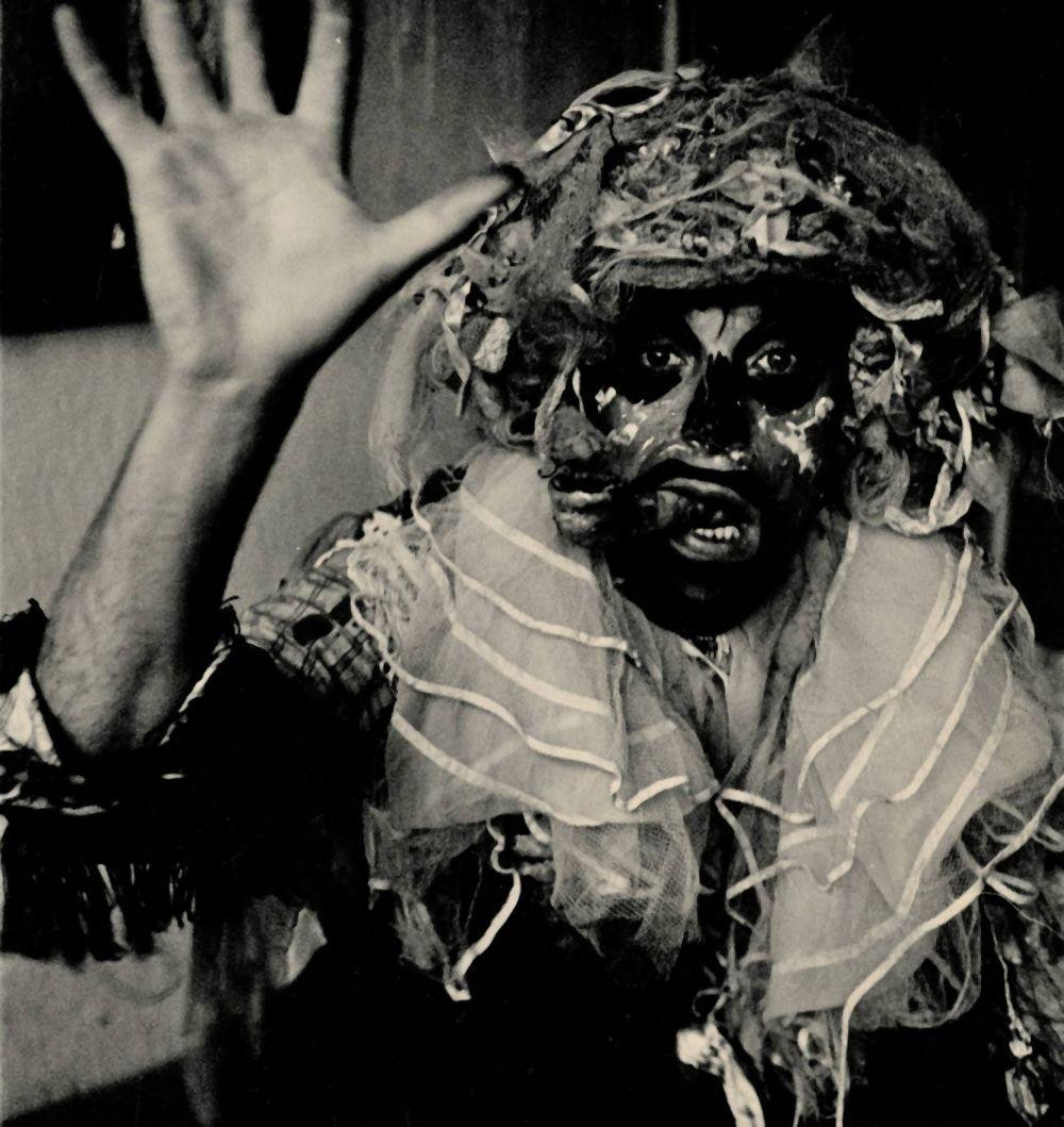 Grootveld in his African shaman getup
