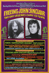 John Sinclair Freedom Rally 40th anniversary poster