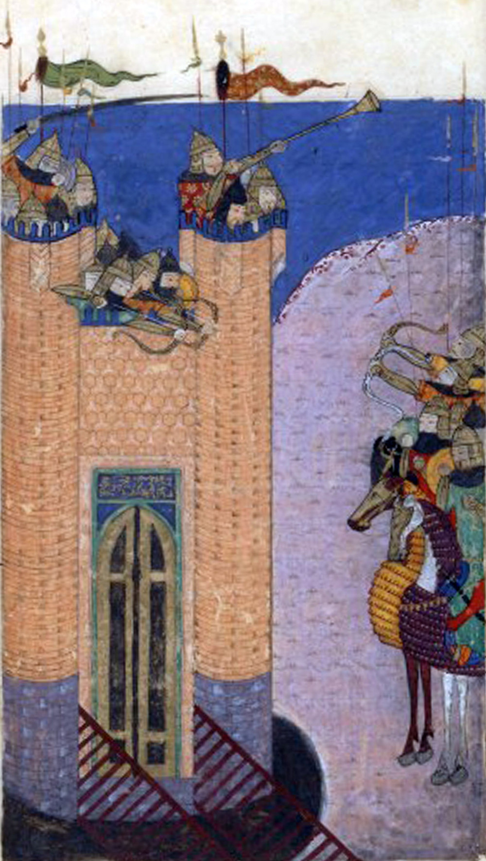 Illustration of the siege of Alamut by the Mongols