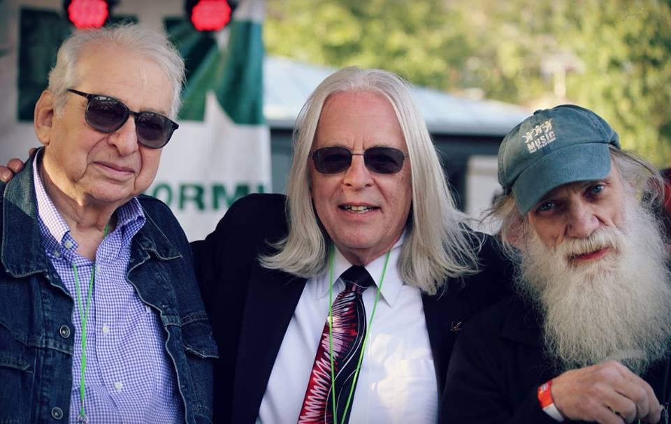 Stroup with Dr. Lester Grinspoon (left) and Rick Cusick (right) at the Boston Freedom Rally