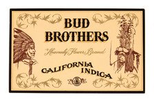 """""""Bud Brothers"""" Cannabis Label"""