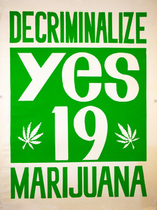 """Yes 19 / Decriminalize Marijuana"" Poster"