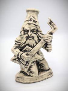 """""""Wizard with Guitar"""" Ceramic Bong"""