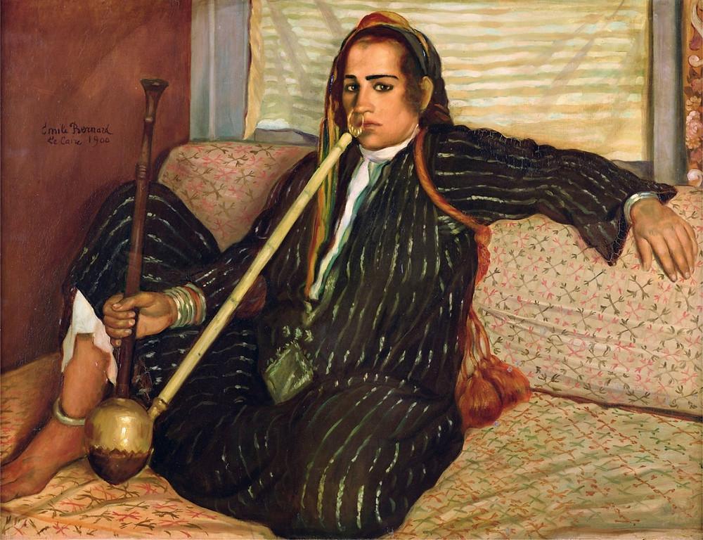 """The Hashish Smoker"" by Emile Bernard (1900)"