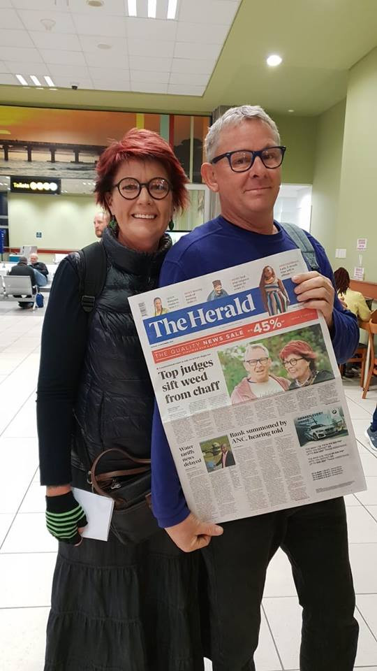 The Dagga Couple show off their legal victory.