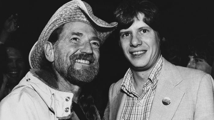 Willie Nelson with President Carter's son Chip
