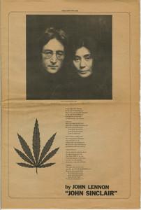 "Freedom Rally program page: Lennon's ""John Sinclair"" song lyrics"