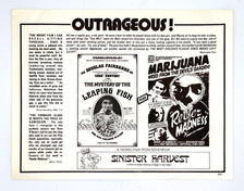"""""""Reefer Madness"""" Re-Release Movie Card"""