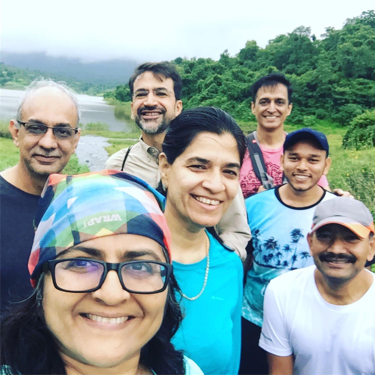 Coaches on a trek