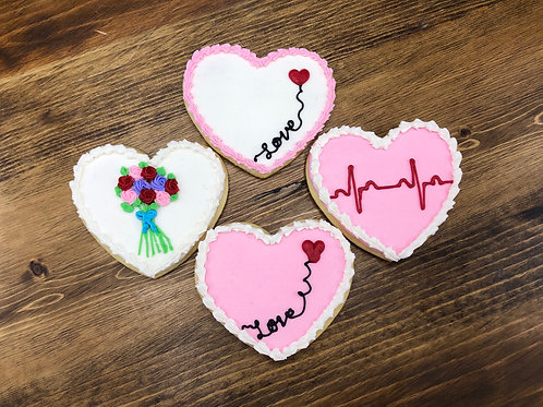 Buttercream Valentine Cookies