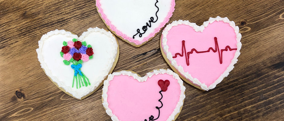 Buttercream Valentine Cookies