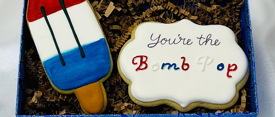 """""""You're the Bomb Pop"""" Father's Day Cookies"""