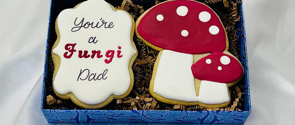 """""""You're a Fungi"""" Father's Day Cookies"""