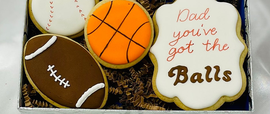 """""""You've Got the Balls"""" Father's Day Cookies"""