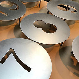 Laser Cut Metal Cutting Signage Words letters