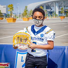 9-26-20 Inglewood Chargers Youth Football League Give Away Gallery