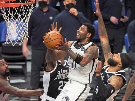 Clippers can't stop Irving, and Harden in 112-108 loss to the Nets